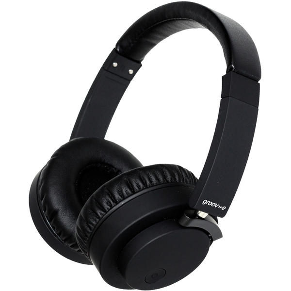 Groov-e GVBT400BK Fusion Wireless Bluetooth or Wired Stereo Headphones Black