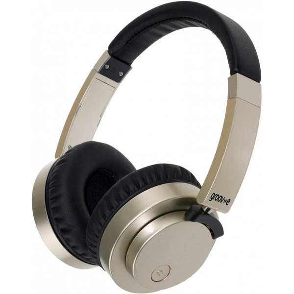 Groov-e GVBT400GD Fusion Wireless Bluetooth or Wired Stereo Headphones Gold