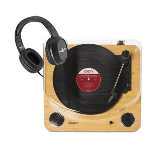 ION Max LP USB Turntable with Integrated Speakers and Headphones