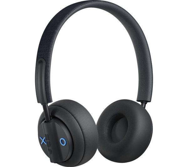 JAM Out There HX-HP303BK Wireless Bluetooth Noise-Cancelling Headphones - Black, Black
