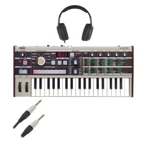Korg microKORG Synthesizer With Cables & Headphones