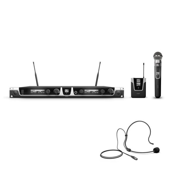 LD Systems U508 HBH2 Double Headset And Handheld Mic Wireless System