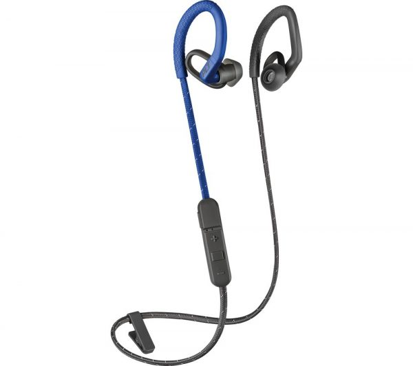 PLANTRONICS BackBeat FIT 350 Wireless Bluetooth Headphones - Grey & Blue, Grey