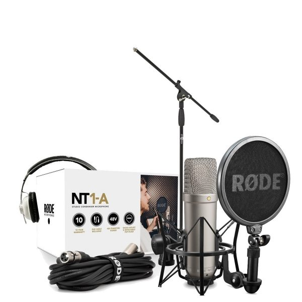Rode NT1-A Vocal Recording Pack with Mic Stand and Headphones