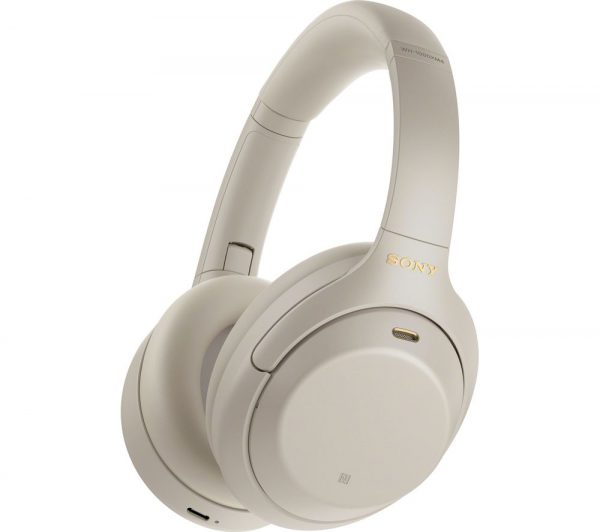 SONY WH-1000XM4 Wireless Bluetooth Noise-Cancelling Headphones - Silver, Silver