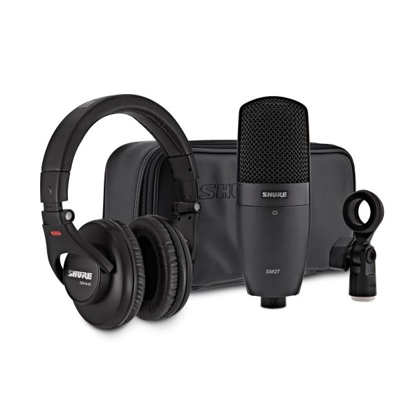 Shure SM27 Condenser Microphone and SRH440 Professional Headphones