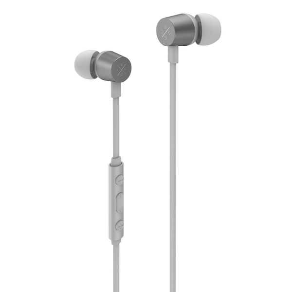 X by Kygo E2/400 Sports Earphones, Built-in Microphone and Remote Control, Magnetic Housing - White