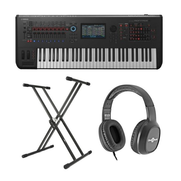Yamaha MONTAGE 6 with Headphones and Stand