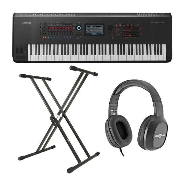 Yamaha MONTAGE 8 with Headphones and Stand