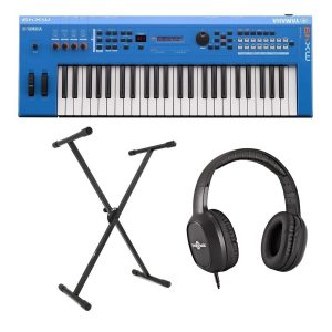 Yamaha MX49 II with Stand and Headphones Blue