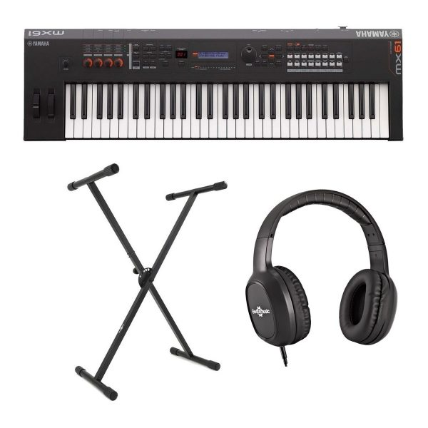Yamaha MX61 II with Stand and Headphones
