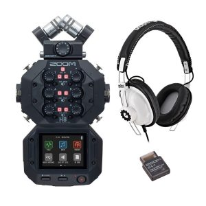 Zoom H8 Recorder with RP-1 Headphones and BTA-1 Bluetooth Adaptor