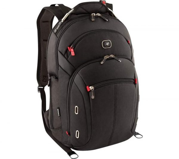"WENGER Gigabyte 15"" Laptop Backpack - Black, Black"