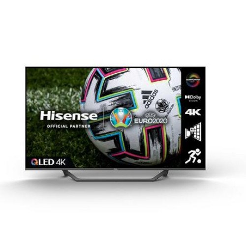 Hisense 55A7GQTUK 55 inch QLED 4K UHD HDR Smart TV with HDR10+ Dolby Vision Dolby Atmos and Alexa and Google Assistant 2021