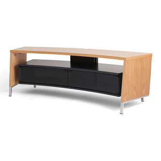 Off The Wall CRV1500LW 1560mm Wide Curved TV Cabinet in Light Wood