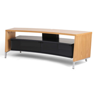 Off The Wall CRV1500OAK 1560mm Wide Curved TV Cabinet in Real Wood Oak
